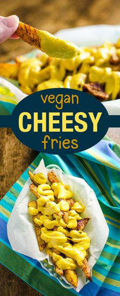 "Vegan ""Cheesy"" Baked Fries - recipe makes a perfect gluten free snack 