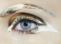 eyelashes, eyes, fashion, glamour, gold, make up