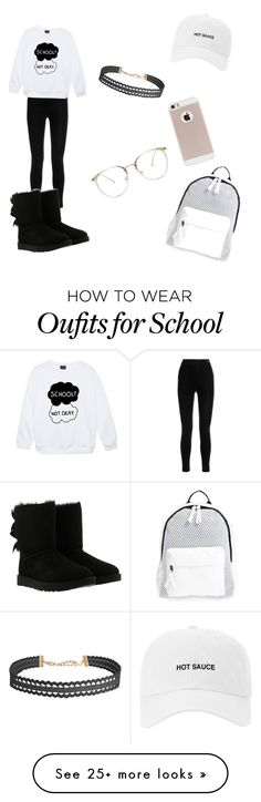 """""""• BASIC • ✨"""" by tytybranch1 on Polyvore featuring Balmain, UGG, Poverty Flats and Humble Chic"""