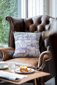 'Edinburgh Illustration' Cushion Cover -  Wexford Linen - product images  of