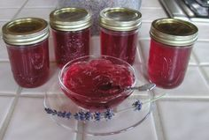 Lavender Jelly -- I'd like to give this a try.  It is suggested to eat as a sauce for desserts (ice cream, bread pudding, etc.) or as a condiment for savory meats such as lamb or chicken.  Anyone for lavender jelly over brie as an appetizer??
