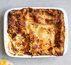 Forget microwave ready-meal versions and make a homemade lasagne properly: with good ingredients, it becomes the ultimate make-ahead, comfort food crowd-pleaser Tray Bake Recipes, Baking Recipes, Lasagne Recipes, Italian Dishes, Italian Recipes, Bbc Good Food Recipes, Yummy Recipes, Fish And Seafood, Tray Bakes