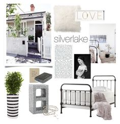 """Silverlake"" by barngirl ❤ liked on Polyvore featuring interior, interiors, interior design, home, home decor, interior decorating, Nearly Natural, HomeVance, Kelly Wearstler and Pottery Barn"