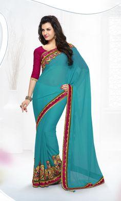 Indian Ethnic Partywear Designer Bollywood Pakistani Sari Wedding 48% Off  Saree…