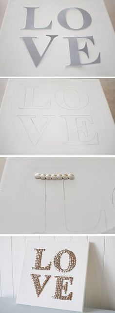 signed by tina: Push-pin art.you could also paint the tops before hand - Easy Cheap Diy Crafts Cute Crafts, Crafts To Do, Easy Crafts, Easy Diy, Diy Projects To Try, Craft Projects, Craft Ideas, Diy Ideas, Backyard Projects