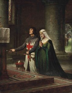 The Dedication: Edmund Blair Leighton.