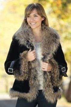 Women's Athena Mouton Sheepskin Coat with Raccoon Fur Trim By Overland Sheepskin Co, http://www.overland.com/Products/NewNotable-590/SaleRoom-536/WomensSaleCoats-540/WomensAthenaMoutonSheepskinCoatwithRaccoonFurTrim/PID-26743.aspx