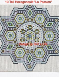 Grit's Life: 10. Teil Hexagonquilt La Passion