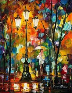 Modern impressionism palette knife oil painting on canvas kp151