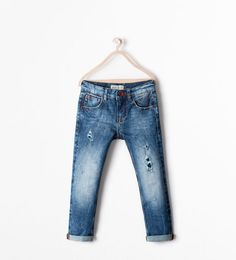 DENIMHOSE REGULAR FIT MIT RISSEN