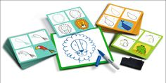 Dieren leren tekenen 3j Step by step #Coloring by #Djeco from http://www.kidsdinge.com www.facebook.com/pages/kidsdingecom-Origineel-speelgoed-hebbedingen-voor-hippe-kids/160122710686387?sk=wall http://instagram.com/kidsdinge