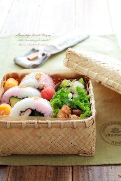 あ~るママ『ひな祭り♪桃色巻き寿司のお弁当~ママのお弁当~』