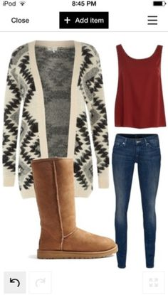 Back to school outfit. So comfy and goes well together. The uggs and jumper and just so fab for winter!