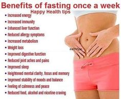 Health & Medical Information (HMI) Benefit Of Fasting One A Week ::