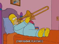 New party member! Tags: homer simpson the simpsons trombone sad trombone