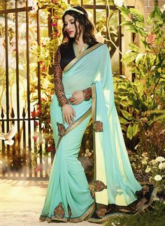 Bulk Turquoise Party Wear Designer Saree | Surat Wholesale Shop | Surat Sarees Supplier  Grab Now @ http://www.suratwholesaleshop.com/77-Outstanding-Blue-Party-Wear-Designer-Saree-Surat-Wholesale-Shop?view=catalog  #sareescatalog #partywearsarees #suratwholesaleshop #latestcatalog #onlinesuits