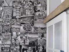 carta da parati realizzata con foto personali del cliente in un negozio a #Courmayeur eseguito da #Christine Pennemann