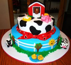 Here are some Top Farm Animal Cakes to get you ready for deep-fried food, carnival. Farm Animal Cakes, Farm Animal Party, Farm Animal Birthday, Barnyard Party, Farm Party, Farm Animals, Farm Birthday Cakes, 2nd Birthday, Birthday Ideas