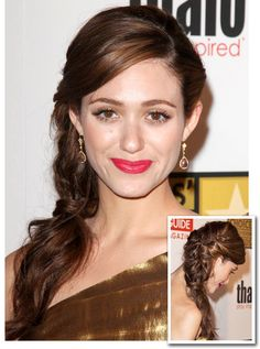 Great side braid - See more of the #braid #wedding #hair trend at this Pinterest board