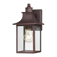 Quoizel Chancellor 11.5-in H Copper Bronze Outdoor Wall Light