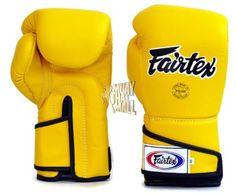 Fairtex Boxing Gloves Angular Sparring BGV6-YL-YL-BK Muay Thai Gear