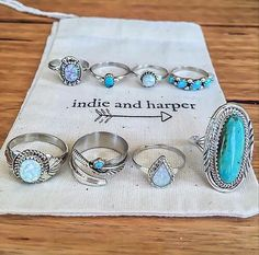 Indie and Harper Boho Navajo Rings