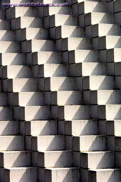 Four Sided Pyramid By Sol LeWitt, National Sculpture Garden, Washington DC,