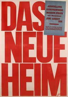 """""""The New Home"""" a Swiss Modernist Poster by Ernst Keller, 1928 1"""
