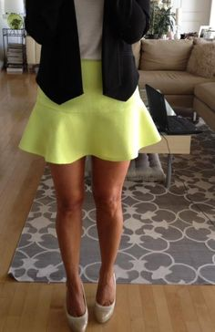 New flounce mini skirts from my Kristina Richards line! They will be in the Newport & East Greenwich store! Comes in more colors! #neon