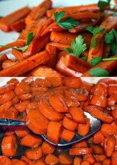 Recipe   Vanilla & Honey Glazed Carrots for the Holidays :: #healthy #side dish