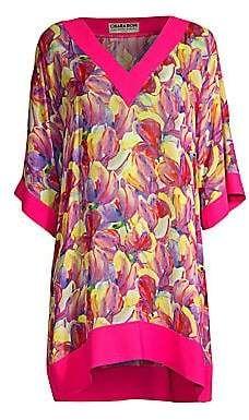 ca9970aaa0a2e Chiara Boni Women's Bryce Print Short Caftan Cover-Up. Short Kimono, Petite  ...