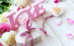 Скачать обои valentine's day, romantic, heart, love, rose, pink, розы, раздел праздники в разрешении 1440x900