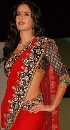 Chic Salsa Red Embroidered Saree$92.00  To order / Inquire, please email us to: info@kolkozy.com visit my site more info : http://www.kolkozy.com/women/sarees/bollywood-sarees.html Thank you and happy shopping!