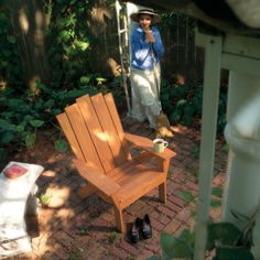 How to Make an Adirondack Chair and Love Seat; I think I will build this and put on my deck.