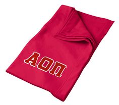 Alpha Omicron Pi Lettered Twill Sweatshirt Blanket Tall from GreekGear.com