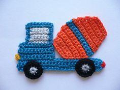 Häkelapplikation zum Aufnähen aus 100 % Baumwollgarn, waschbar bis 40° Höhe ca. 7 cm Breite ca. 12 cm Crochet Applique Patterns Free, Crochet Flower Patterns, Crochet Blanket Patterns, Baby Knitting Patterns, Crochet Motif, Diy Crochet, Crochet Crafts, Hand Crochet, Crochet Ball