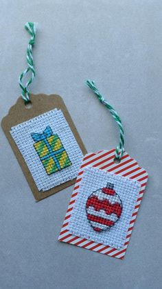 How to Finish a Cross Stitch Gift Tag - And Sew We Craft