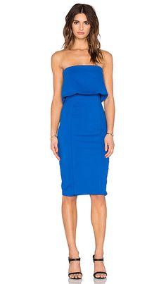 Lavish Alice Layered Strapless Dress in Cobalt   REVOLVE