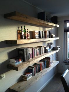 floating book shelves - Google Search