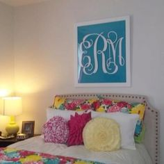So cute. i love the monogram and i want the bedding
