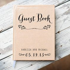 love this personalized rustic guest book