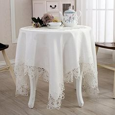 Warm Home Embroidered Table Cover Square Lace Tablecloth ... https://www.amazon.com/dp/B01ANUG0VO/ref=cm_sw_r_pi_dp_x_larkyb81ZEDS8