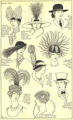 coiffure belle epoque 1910-1920
