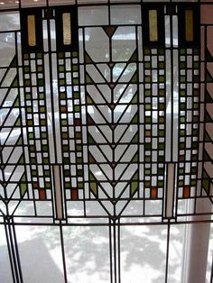 Frank Lloyd Wright Window by Nutmeg Designs, via Flickr