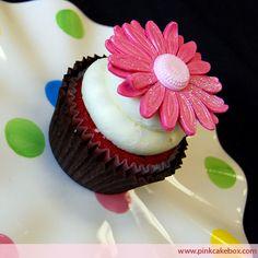 Pink Sunflower Cupcake by Pink Cake Box