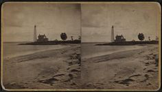 stereoscopic view of New London Lighthouse