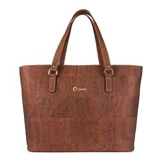 Tote Bag Shoulder Handbag Women's - Vegan Sustainable Red Cork