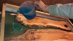 Oak resin river table - YouTube