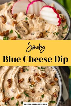 Blue Cheese Dip is the perfect veggie dip for parties, holidays, and game day. Made with yogurt, cream cheese, smoky paprika dip and more, this appetizer recipe is smoky, cheesy, and full of flavor. #easydip #partyfood #gamedaysnack #appetizer Game Day Appetizers, Game Day Snacks, Game Day Food, Appetizer Recipes, Cold Dip Recipes, Party Dishes, Learn To Cook, Blue Cheese, Quick Meals