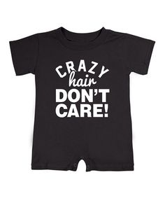 This Black 'Crazy Hair Don't Care' Romper - Infant is perfect! #zulilyfinds